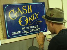 Traditional Sign Painting by Dan Madsen