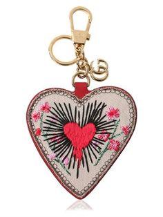 """gucci - mujer - llaveros - llavero """"heart gg supreme"""" bordado"""
