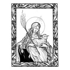 Image result for saint genevieve drawing