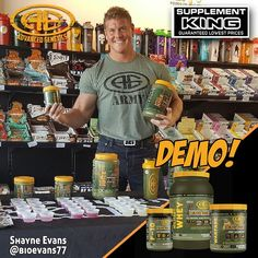 DEMO ALERT!!! ... This Saturday at @supplementkingkamloops with @bioevans77 10am-1pm. ... Sample your favorite @advancedgenetics supplements! ... FOLLOWFOLLOW  @advancedgenetics  @ agarmygirl  @agarmykitchen  . ||>-------<|| .  www.agarmy.com  Supplements  Muscle Building / Fat Burning  Pre/Intra/Post Workout Nutrition  Hormone Optmization ------------------------------- Advanced Genetics military grade bodybuilding supplements. Fully dosed formulas designed by IFBB Pro & holistic…