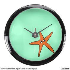cartoon starfish Aqua clock