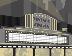 """Check out new work on my @Behance portfolio: """"""""Cinema"""" poster"""" http://on.be.net/1Of6rHa"""