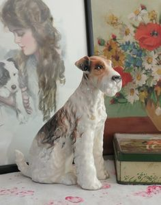 Fantastic vintage Fox Terrier figure at Vintage Lifestyle.