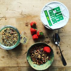 """""""Kick-off the week with the delicioulsy self-made healthy granola by @elisakookt #Healthylifestyle #granola #breakfast #organic #vegan #bio #biotylab"""" Photo taken by @biotylab on Instagram, pinned via the InstaPin iOS App! http://www.instapinapp.com (09/07/2015)"""