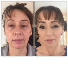 Mother of the Bride: Before & After using Airbase airbrushed makeup