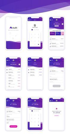 design Audit - Finance Mobile App Concept - Adobe XD - If youre the sort of person. -finance design Audit - Finance Mobile App Concept - Adobe XD - If youre the sort of person. Ios App Design, Mobile App Design, Mobile App Icon, Android App Design, Mobile Ui, Mobile Mockup, Wireframe Design, Interaktives Design, Layout Design