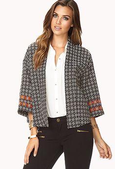 Bold Stripe Kimono Jacket | FOREVER 21 - 2002246319
