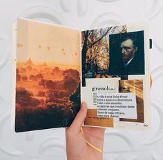 Bullet Journal Notebook, Bullet Journal Ideas Pages, Bullet Journal Inspiration, Art Journal Pages, Art Journal Challenge, Portfolio Fotografia, Kunstjournal Inspiration, Poetry Journal, Collage Book
