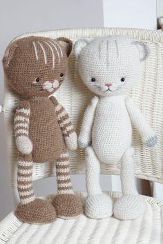 DIY Crochet Creative KIT - Supply - Lucky Kitty Toy / amigurumi toys / animals by Polushkabunny Chat Crochet, Crochet Cat Toys, Crochet Cat Pattern, Crochet Patterns Amigurumi, Crochet Animals, Crochet Dolls, Diy Crochet, Amigurumi Animals, Amigurumi Toys