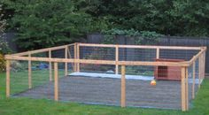 Nice DIY Dog Run Project Complete with Low Maintenance Kennel Flooring & Dog House