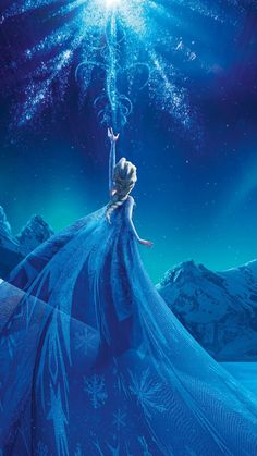 Magical Frozen Queen Elsa iPhone 6 Plus Wallpaper - 2014 Halloween Snowflake Dress, Frozen World