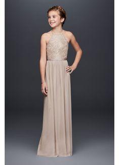 4a918948c2 Long Yellow Soft  amp  Flowy David s Bridal Bridesmaid Dress Grey Bridesmaid  Dresses