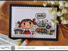 Nichol Spohr LLC: Waffle Flower Crafts   Hello Card