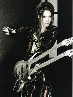 Aoi,guitar player of the japanese The Gazette