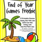 End of Year Games FREEBIE by Games 4 Learning is a collection of 3 printable games for End of Year celebrations! It includes 3 printable End of Year games that will keep kids learning and let them have fun! Fun Classroom Activities, End Of Year Activities, Literacy Games, Fun Math, Math Games, Fun Games, Maths, Classroom Helpers, Multiplication Games