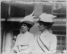 Marchers in Suffrage parade, Miss Brannan  Mrs. John Rogers, Jr.  May 4, 1912