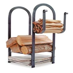 Fire Center Indoor Firewood Rack #LearnShopEnjoy