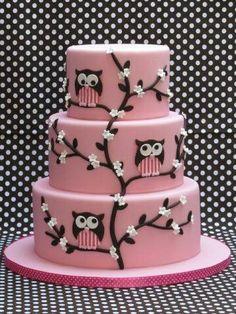 Más búhos! Hermosos! Más en pastel!