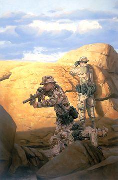 Rangers Desert Patrol, GI Joe illustration by Larry Selman