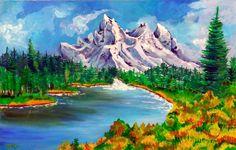 INSPIRATION: Bob Ross .  - Creative Art in Painting by Paula Wawrzynek in Portfolio Pinka Art. at Touchtalent
