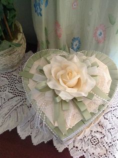 Satin heart box by Thatssolovely on Etsy, $50.00