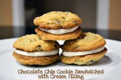 Ice Cream Before Dinner: Chocolate Chip Cookie Sandwiches with Cream Filling