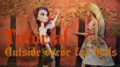 Tutoriel : décor extérieur miniature pour nos dolls 🍁🍂🍁 Doll Tutorial, Decoration, Barbie, Miniatures, Dolls, Youtube, Painting, Decor, Baby Dolls