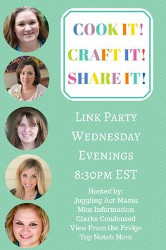 Cook it! Craft it! Share it! Link Party via Juggling Act Mama