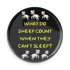What do sheep count? button