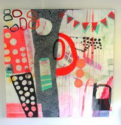 Abstract Art by Mette Lindberg. www.mettesmaleri.dk