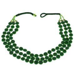 Collier vert en perles - Bijou fantaisie - Idée cadeau noël: ShalinCraft: Amazon.fr: Bijoux