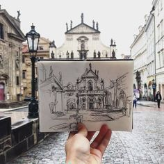 This Artist Sketches The Places She Goes To Every Day - Art Sketches Travel Sketchbook, Arte Sketchbook, Small Sketchbook, Sketchbook Architecture, Interior Architecture Drawing, Drawing Sketches, Art Drawings, Art Hoe, Urban Sketching