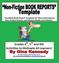 Non-Fiction Book Report Template/ Differentiated Projects
