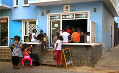 People dancing at the bar, Santa Maria, Sal, Cape Verde