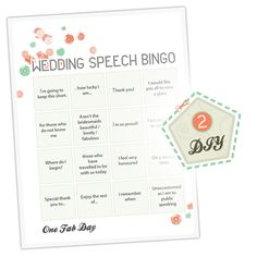 Wedding Speech Bingo: Place a card at each table, have the best man explain the rules before speeches start. First table with a line down or across gets a bottle of champagne for the table :) Love it! Wedding Bingo, Wedding Games For Guests, Wedding Reception, Our Wedding, Dream Wedding, Reception Ideas, Trendy Wedding, Reception Games, Table Wedding
