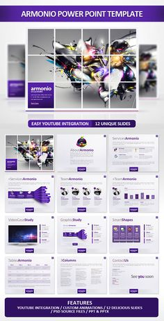 Buy Armonio Power Point Presentation by EAMejia on GraphicRiver. A modern and sick presentation special for a Agency or any type of business.Easy to change colors, text, photos. Create Powerpoint Presentation, Presentation Layout, Creative Powerpoint, Presentation Slides, Business Presentation, Web Design, Slide Design, Ideas For Logos, Photomontage