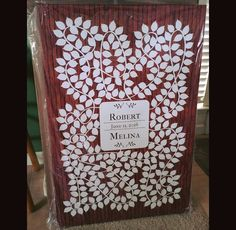 Cherrywood Vinwik Wedding Guest Book Alternative | Rustic Wedding | Customer Photo | Wedding Color - White | peachwik.com