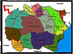 Historical regions of Romania History Of Romania, Romania Map, Imperial State Crown, Republica Moldova, Old World Maps, Fantasy Map, Historical Maps, Cartography, History Facts