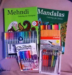 mandala coloring booksgel pensstabilo penssharpie markers coloring by me
