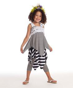 Look at this #zulilyfind! Black & White Matilda Dress - Girls by KidCuteTure #zulilyfinds http://www.zulily.com/invite/kripley070