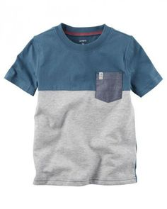 Carter's Boys' Colorblock Pocket Tee Boys - - No Size Toddler Boy Outfits, Toddler Boys, Kids Outfits, Baby Boy Tops, Carters Baby Boys, Carter Kids, Kids Fashion Boy, Men's Fashion, Cute Baby Clothes