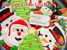 Best Tasting Sugar Cookie Icing – With only 4 ingredients and 5 minutes! Many Fans have been begging for this recipe.. Now you have it! This icing dries hard and shiny and the colors stay bright. Choose as many different food colorings as you desire Best Sugar Cookie Icing Ever Ingrecdients: 4 cups powdered sugar 6 tablespoons whole milk 6 tablespoons light corn syrup 1 ½ teaspoon almond extract Steps: In a small bowl, stir together confectioners' sugar and milk until smooth. Beat in corn…