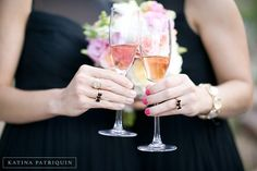 Love the matching bow tie rings from Arianna and John's wedding.