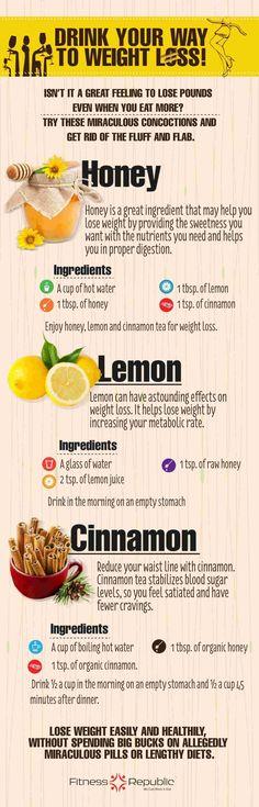 honey, lemon and cinnamon