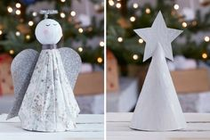 The perfect way to finish your Christmas tree is with a pretty topper - why not make your own? Whether you go for a simple star or a more-complicated angel, there's something achievable for every level of crafter!