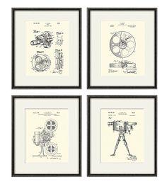Movie Art Print patent cinema art Movie patent poster movie