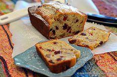 Applesauce Cranberry Walnut Bread.