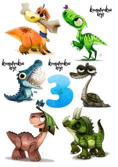 Dinosaur Fabric, Dinosaur Art, Cute Dinosaur, Dinosaur Birthday, Dinosaur Illustration, Cute Illustration, Dinosaur Images, Baby Dino, Lol Dolls