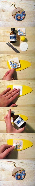 DIY Clay Decoupage Earrings DIY Projects | UsefulDIY.com