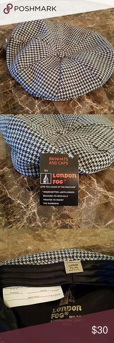 London fog Men's beret hat Mens  london fog hounds tooth beret hat size large (7 1/4-7 3/8) London Fog Accessories Hats